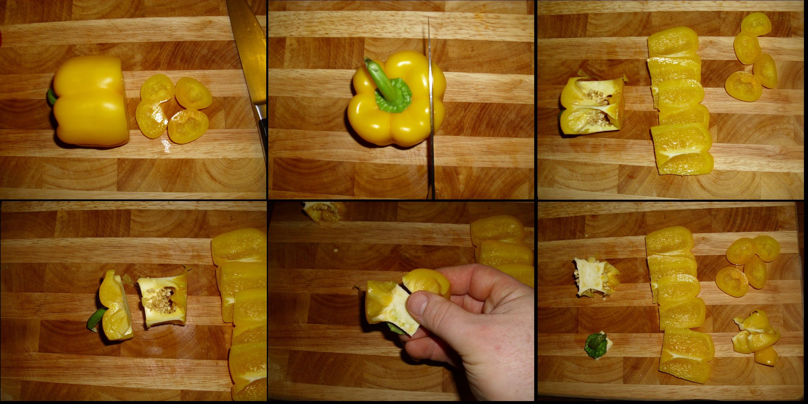 Paprika putzen in 6 Schritten