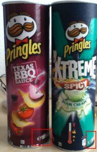 Hier sieht man den Unterschied zwischen Pringles XTREME und normal