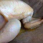 Das Huhn verliert im Ofen keinen Saft
